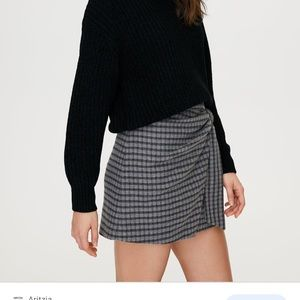 Knit wrap skirt